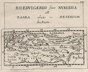 "Kupferstich- Karte, aus Duval / Hoffmann, ""Biledvlgerid sive Nvmidia et Zaara alias Desertum ..."