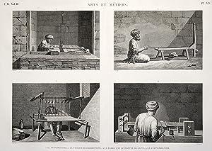 Arts et Metiers: 1. Le Passementier. 2. Le faisseur de cordonnets. 3. Le fabricant d etoffes de ...