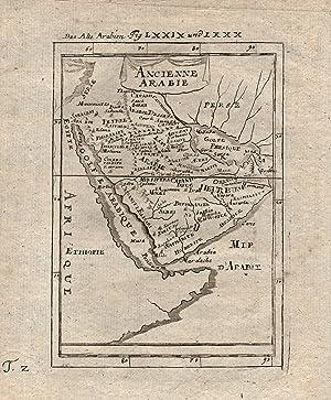 """Kst.- Karte, aus Mallet, """"Ancienne Arabie"""".: Saudiarabien ( Arabia ):"""
