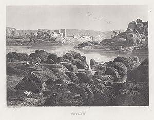 """Ansicht der Tempelruinen, """"Philae"""".: Ägypten ( Egypt ): Philae:"""