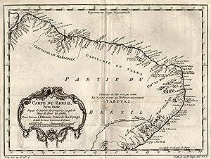 "Kst.- Karte n. Bellin, ""Carte du Brasil Prem Partie ."".: Brasilien ( Brazil ):"