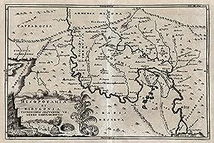 "Kupferstich- Karte, v. Cellarius, ""Mesopotamia et Babylonia. Flvminibvs secvndvm veterem ..."