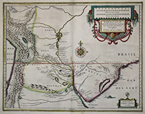 "Kst.- Karte, b. Blaeu, ""Paragvay, ó prov. de Rio de La Plata cum regionibus adiacentibus, ..."