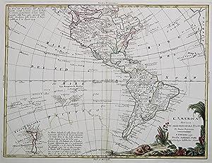 "Kst.- Karte, b. A. Zatta, ""L'America divisa ne' suoi principali stati di nuova ..."