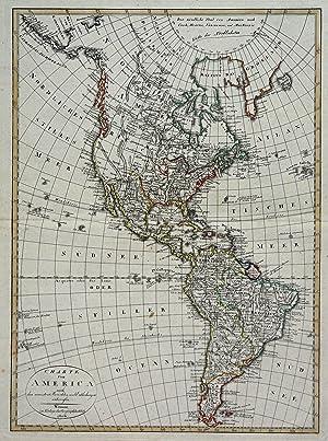 "Kst.- Karte, v. Gaspari b. Geogr. Inst. Weimar, ""Charte von America ."".: Amerika ( The ..."