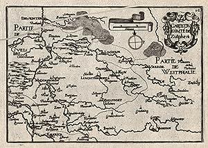 "Kst.- Karte, b. Christophe Tassin, ""Carte du Comté Zutphen"".: Zutphen ( Grafschaft ):"