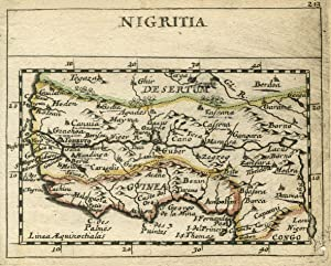 "Kst.- Karte, aus Duval / Hoffmann, ""Nigritia"".: Westafrika ( West Africa ):"