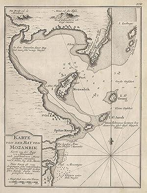 """Kst.- Karte n. Bellin, """"Karte von der Bay von Mozambik"""".: Mocambique ( Mosambik ): ..."""