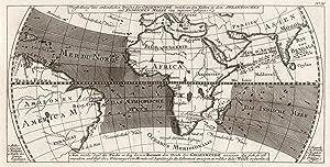"""Kst.- Karte, n. Bellin, """"Vorstellung des ordentlichen Strichs der Gegenwinde, die an den Küsten..."""