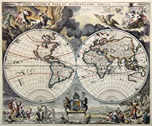 "Kst.- Karte, v. Johannes van Loon b. Moses Pitt, ""Orbis Terrarum nova et accuratissima tabula&..."