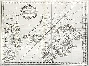 "Kupferstich- Karte, v. Bellin, ""Carte Réduite des Mers du Nord ."".: Atlantik ( Atlantic ):"