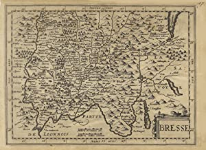 "Kst.- Karte, n. Mercator b. Cloppenburg ( Ausgabe Janssonius - Waesberge ), ""Bresse"".: ..."