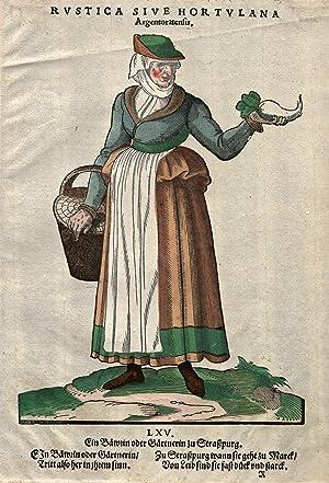 Ein Bäwrin oder Gärtnerin zu Straßburg.: Strassburg: Costume: