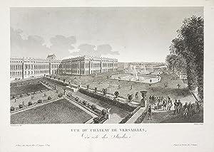 """Schloßansicht, """"Vue de Chateau de Versailles, du coté des Jardins"""".: Paris: Versailles:"""