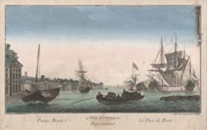 "Teilansicht, Hafen, ""Portus Bresti - Le Port de Brest."".: Brest/Bretagne:"