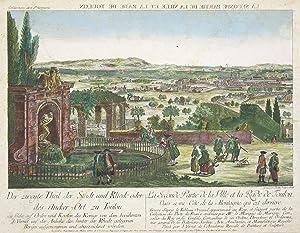 """Teilansicht, Hafen, """"Der zweyte Theil der Stadt und Rhede oder des Ancker=Ort zu Toulon."""".:..."""