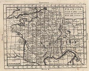 "Kst.- Karte, n. Buffier b. Pitteri, ""Francia"".: Frankreich ( France ):"
