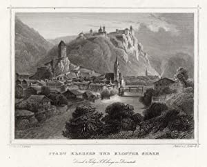 Gesamtansicht, m. dem Kloster Seben.: Klausen/Trentino Alto Adige: