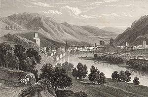 """Gesamtans., mittig die Etsch, """"Trento - Trient"""".: Trient ( Trento ) / Trentino:"""