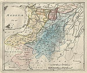 "Kupferstich- Karte, b. Fr. J. Reilly, ""Modena Nr. 495"".: Modena ( Territorio ):"