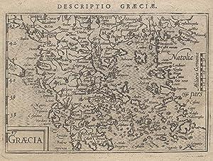 """Kst.- Karte, aus Langenes/ Bertius """"Caert Thresoor"""" bei Nicolai in Amsterdam, """"Graecia&..."""