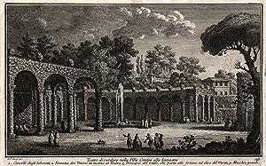 """Teilansicht, Palazzo Corsini, """"Teatro di verdure nella Villa Corsini alla Lungara. ."""", im ..."""