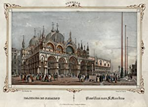 "TA., Markuskirche, rechts Blick zum Kanal, ""Basilica di S. Marco. - Basilica von S. Markus""..."