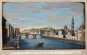 """Teilansicht, Innenstadtansicht am Arnoufer mit der Dreifaltigkeitsbrücke, """"Pont de la Sainte ..."""