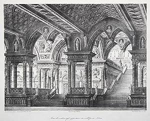 """Teilansicht, Teatro di S. Carla ( Innenansicht des Atriums), """"Atrico che cobduce agli ..."""
