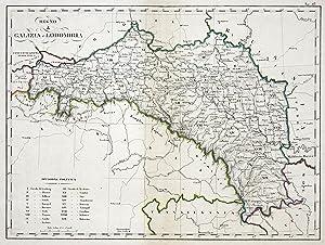 """Kupferstich- Karte, aus Marieni in Mailand, """"Regno di Galizia e Lodomiria."""".: Galizien:"""