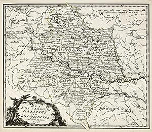 """Kst.- Karte, b. Reilly, """"Des Königreichs Galizien und Lodomerien östliche Kreise"""".: ..."""