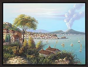 Gesamtansicht, Blick über die Bucht.: Neapel ( Napoli / Naples ):