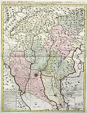 """Kupferstich- Karte, n. Sanson bei Jean Covens et Corniele Mortier, """"Carte Nouvelle du ..."""