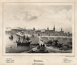 "Gesamtansicht, ""Stettin. Im 16ten Jahrhundert."".: Stettin ( Szczecin ):"