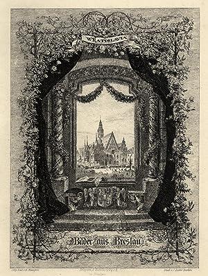 "TA., Rathaus, ""Wratislavia - Bilder aus Breslau"".: Breslau ( Wroclaw ):"