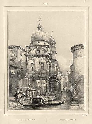 """TA., Kirche, Santa Maria dei Miracoli, """"La Chiesa de Miracoli. - L'Eglise des Miragles""""..."""