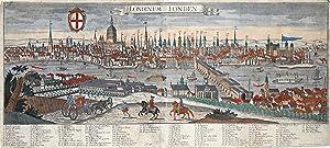 """Gesamtansicht, """"Londinum - Londen"""".: London:"""
