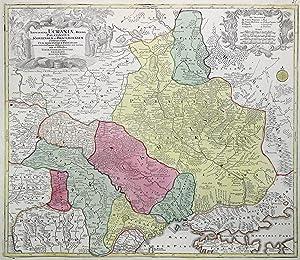 "Kupferstich- Karte, b. Tob. Con Lotter, ""Amplissima Ucrainae regio, Palatinatus Kioviensem et ..."