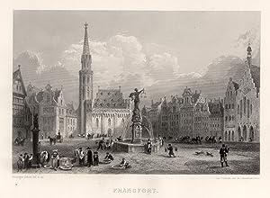 Teilansicht, Römerberg m. Blick zur Nikolaikirche.: Frankfurt: