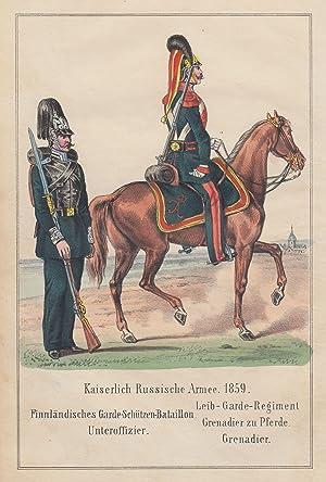 Kaiserlich Russische Armee 1859. Finnländisches Garde-Schützen-Bataillon. Unteroffizier. - ...
