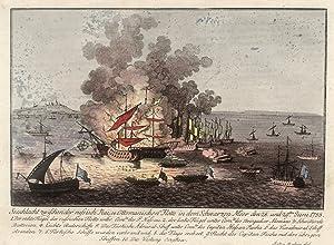 Darstellung der Seeschlacht zwischen Russen und Türken im Schwarzen Meer vor Ocakov am 28. u. 29. ...