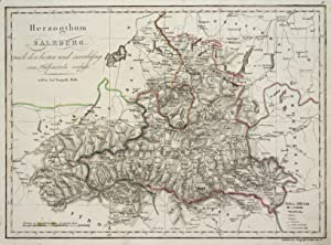 """Kst.- Karte, b. T. Mollo, """"Herzogthum Salzburg."""".: Salzburg ( Herzogtum ):"""