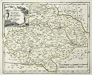 """Kst.- Karte, b. Reilly, """"Des Herzogthums Steyermark Viertel Marburg und Zilley"""".: Slowenien..."""