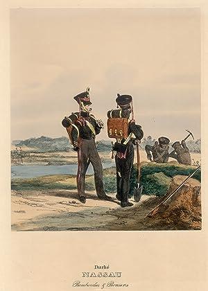 """Nassau, """"Duché Nassau. Bombardier & Pioniers"""".: Hessisches Militär:"""