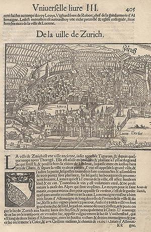 "Gesamtans., Aufsicht, ""De la uille de Zurich"".: Zürich:"