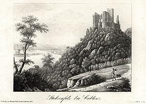 """Gesamtansicht, Stolzenfels, """"Stolzenfels bei Coblenz"""".: Koblenz: Stolzenfels:"""