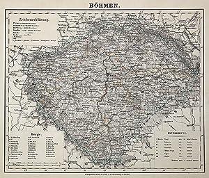 "Litho.- Karte, v. C. Flemming in Glogau, ""Böhmen"".: Böhmen ( Bohemia ):"