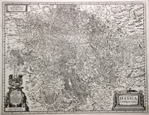 "Kupferstich- Karte, b. J. Janssonius, ""Hassia Landgraviatus."".: Nordhessen:"