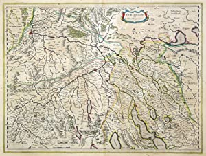 "Kst.- Karte, b. Blaeu, ""Zvrichgow et Basiliense provincia"".: Zürich - Aargau - Basel:"