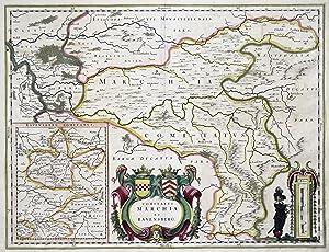 "Kst.- Karte, b. Blaeu, ""Comitatvs Marchia et Ravensberg"".: Mark ( Grafschaft ):"